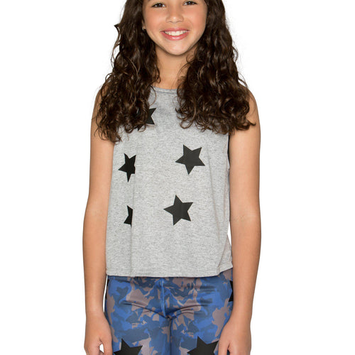 Camo Stars Legging- Blue/Black