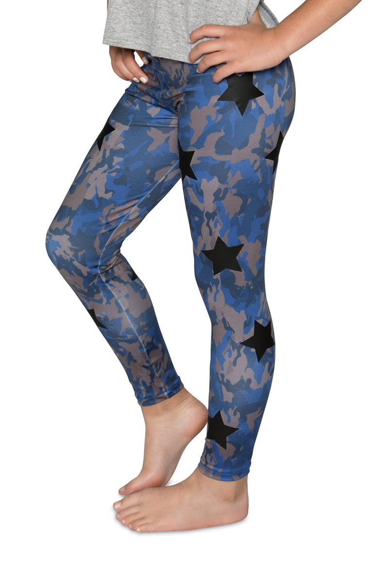 Camo Blue Leggings