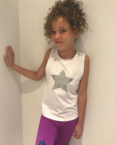 Big Star Tank - White/Silver