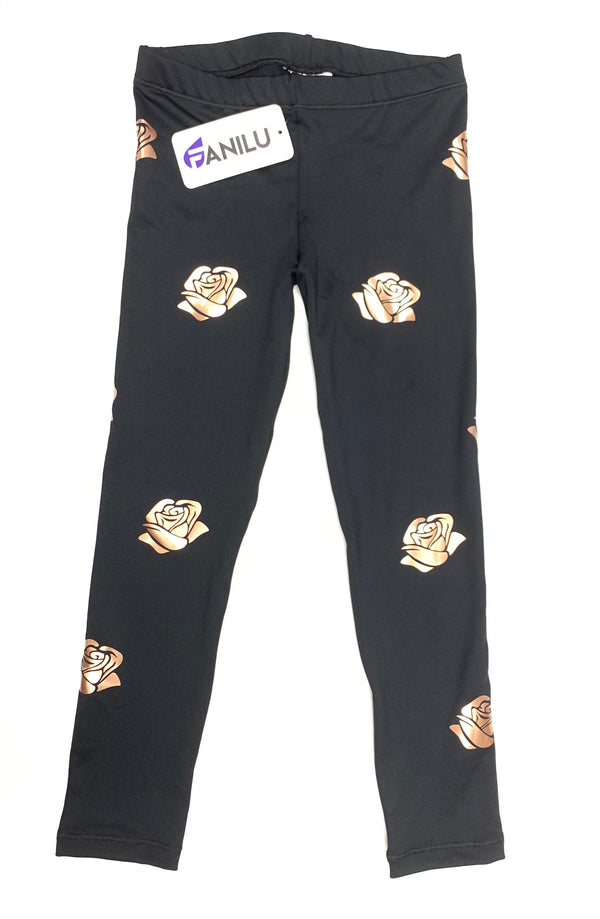 Roses Leggings-Legging-Fanilu