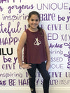 Tank Bee Burgundy - Fanilu Activewear For Kids