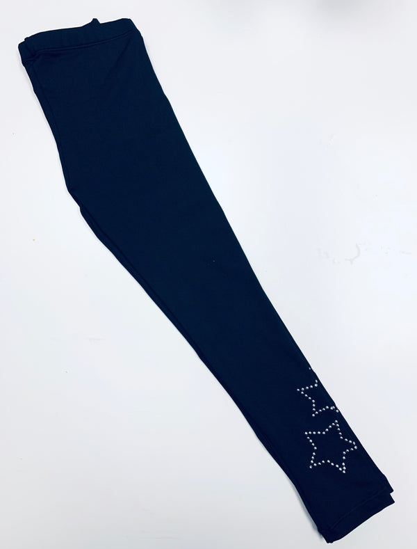 Stars Pins Black Leggings-Fanilu