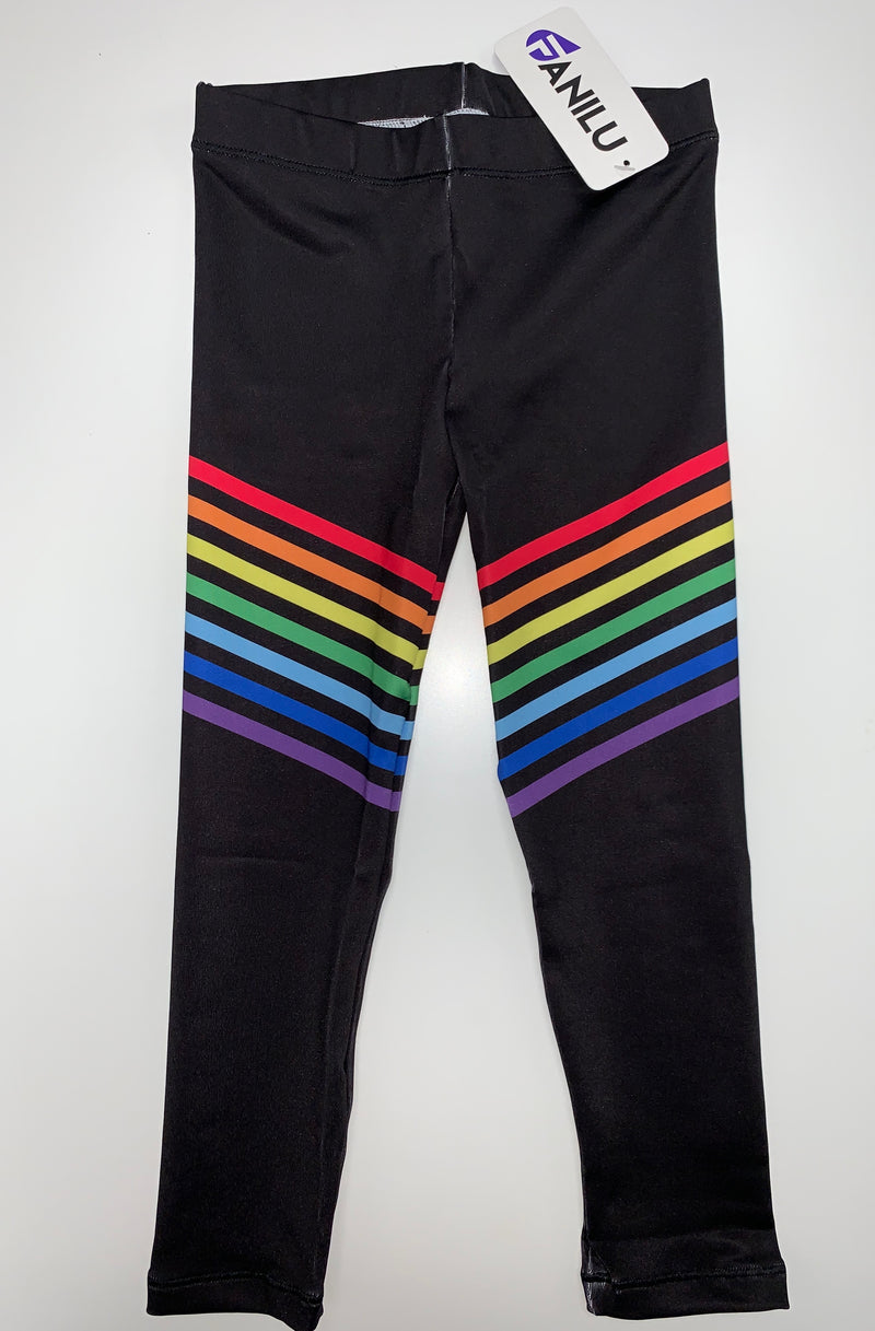 Rainbow Black Leggings