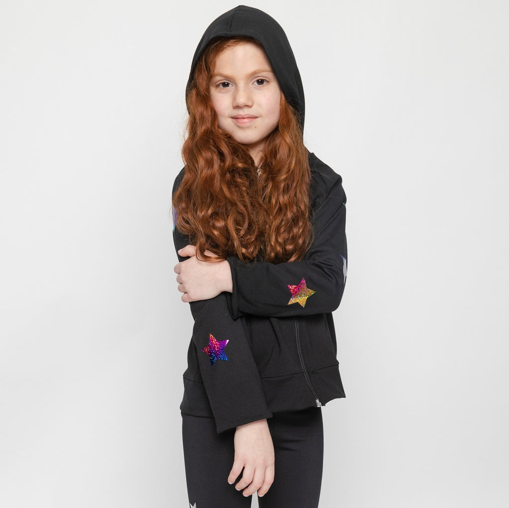 Stars Multicolor Jacket - Fanilu Activewear For Kids
