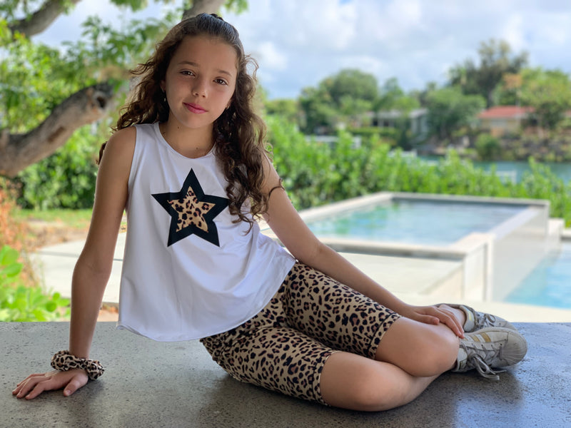Leopard Brown Star Tank - Fanilu
