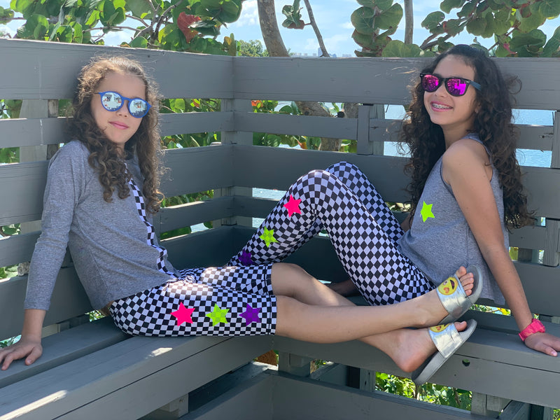 Checkers Neon Leggings