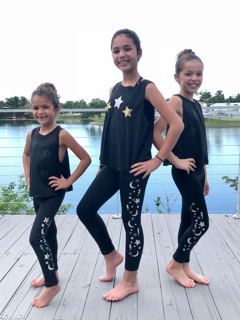 Galaxy Leggings - Fanilu Activewear For Kids