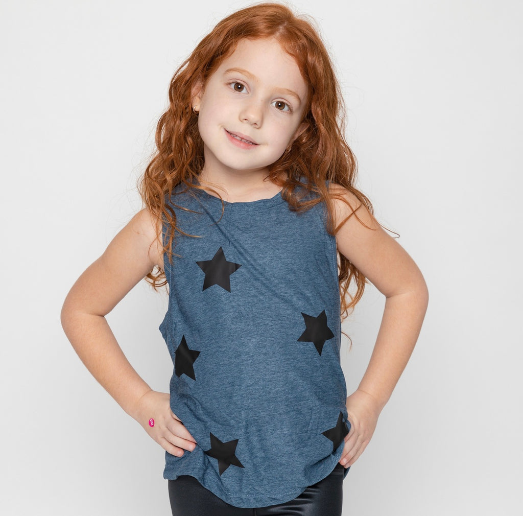 Stars Black Blue Tank-Tanks-Fanilu