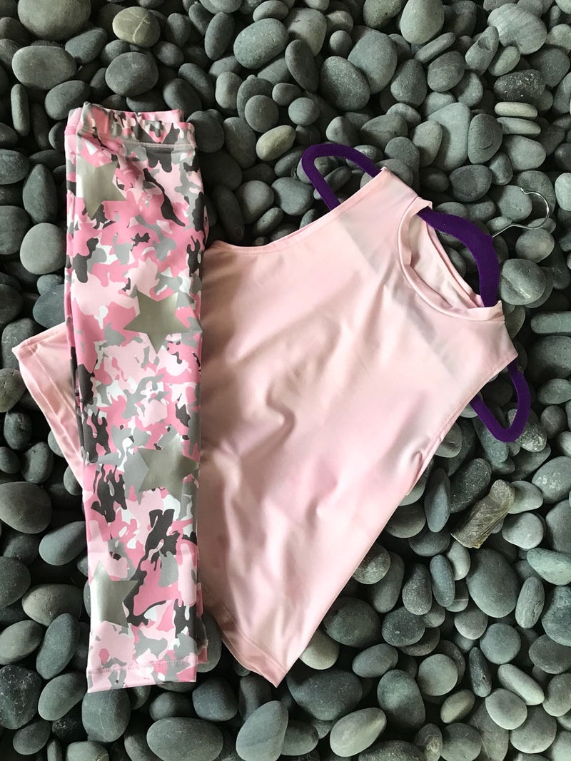 Camo Pink Leggings-Legging-Fanilu