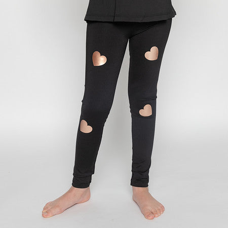 Hearts Rose Gold Leggings