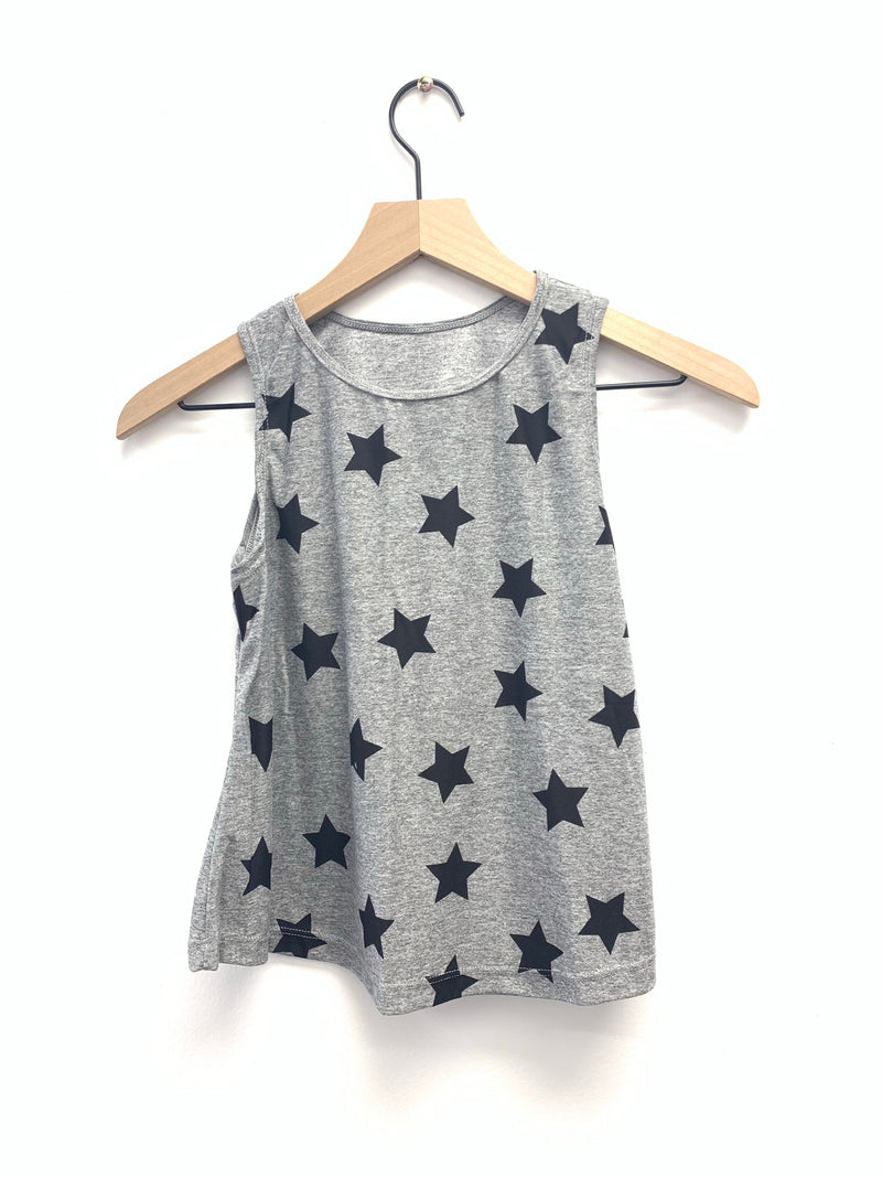 Stars Small Grey Tank-Fanilu