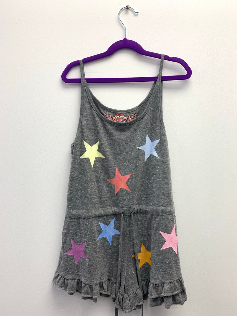 Girls HG Tank Romper in Vintage - Fanilu Activewear For Kids