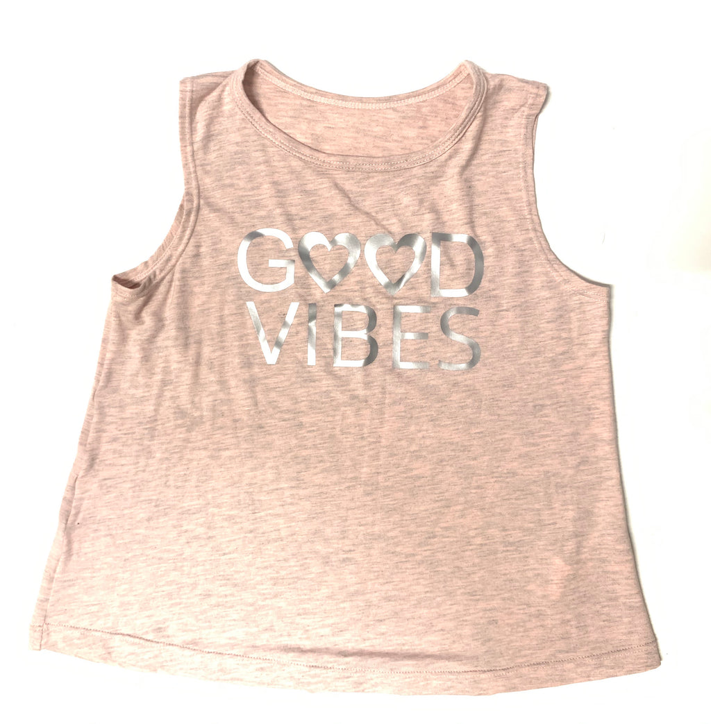 Good Vibes Tank Pink-Tanks-Fanilu