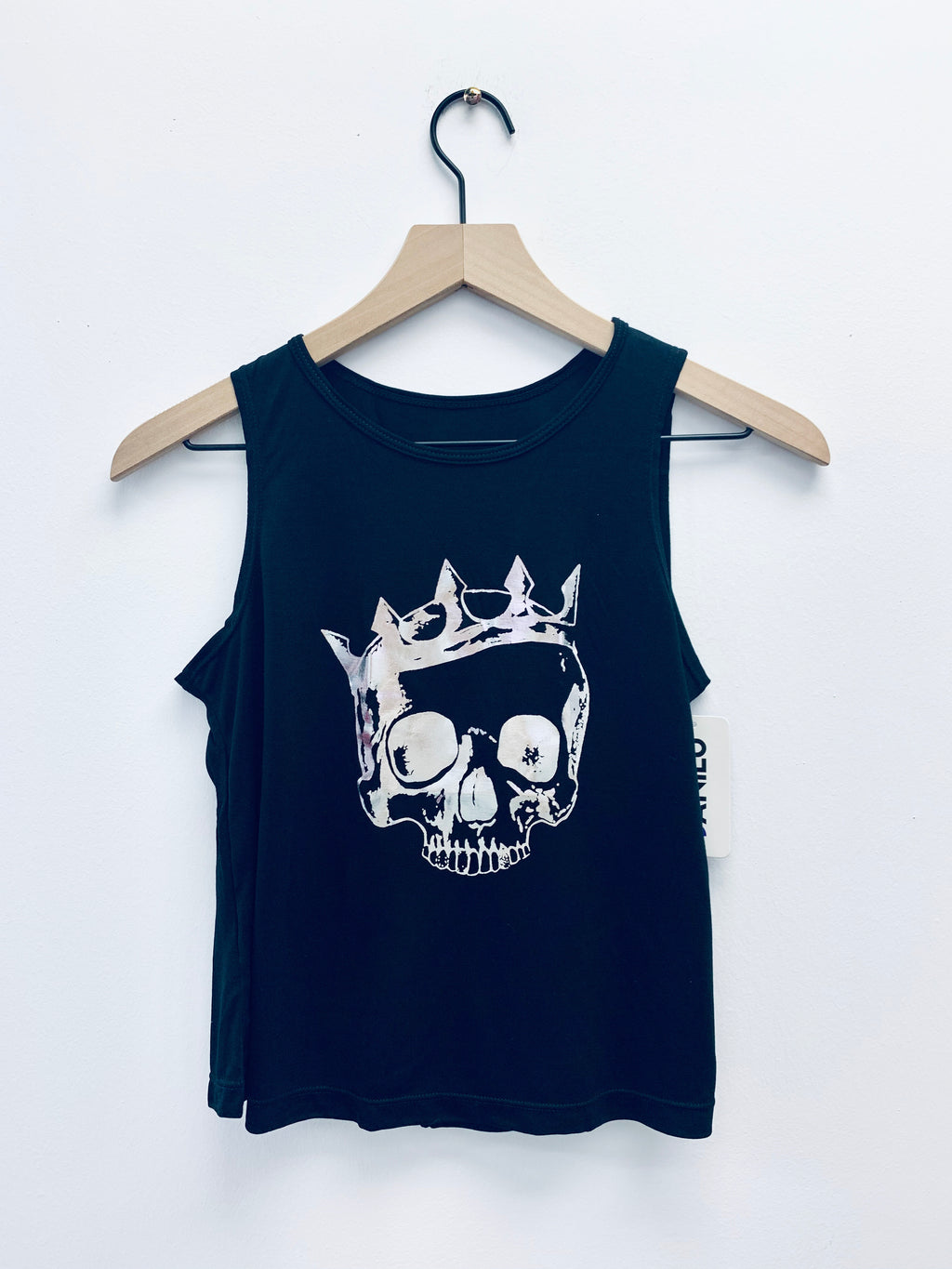 Skull Big Black Tank-Fanilu