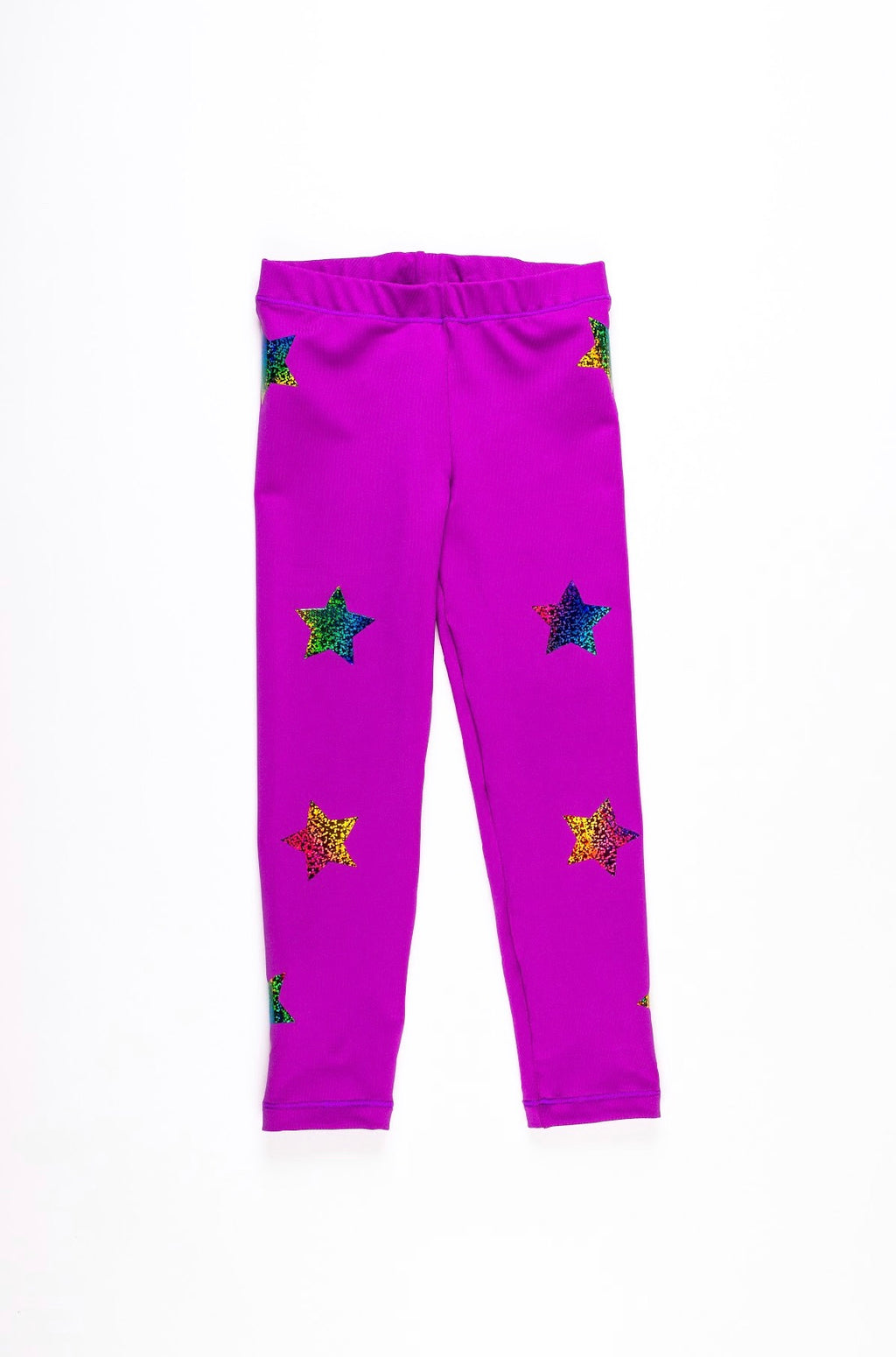 Stars Multicolor Purple Leggings