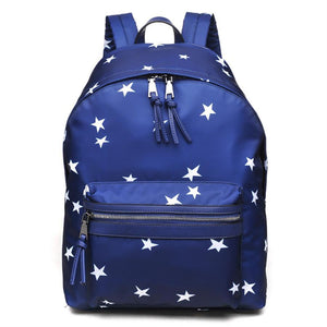 "SOL AND SELENE ""INFINITY - STARS PRINT"" Navy Backpack"