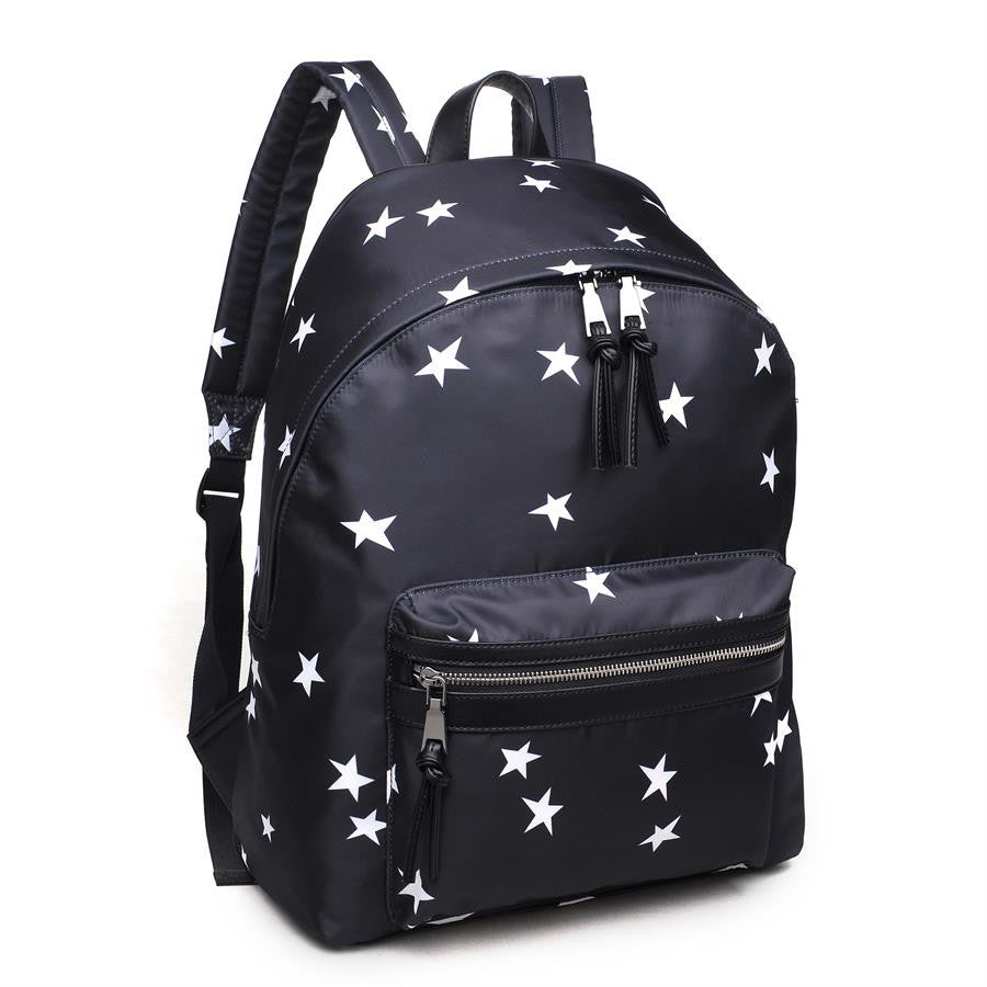 "SOL AND SELENE ""INFINITY - STARS PRINT"" Black Backpack"
