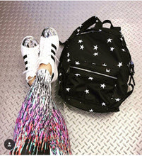 "SOL AND SELENE ""INFINITY - STARS PRINT"" Backpack in Black"