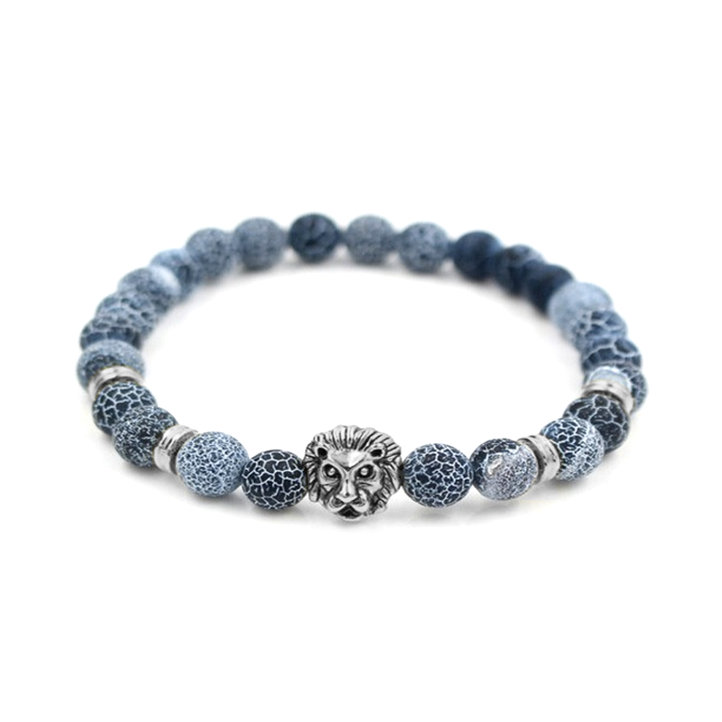 SECRET OFFER: Silver Lion Bracelet (Blue Stones)
