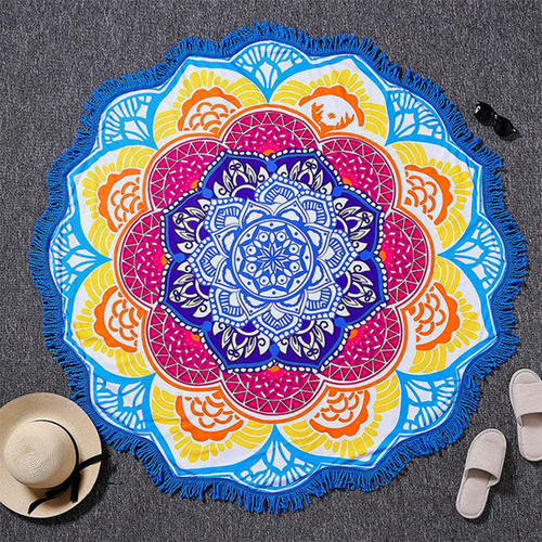 Blue Lotus Yoga Towel
