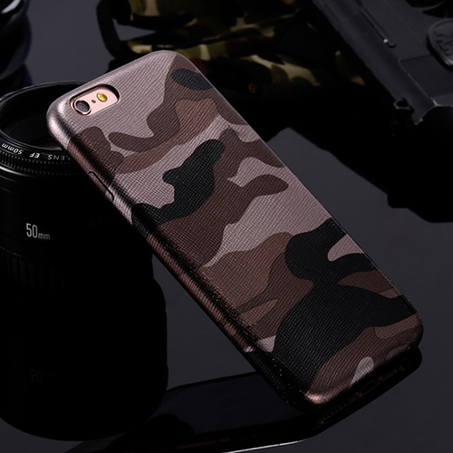 Camouflage iPhone Case (All Sizes Available) - Brown