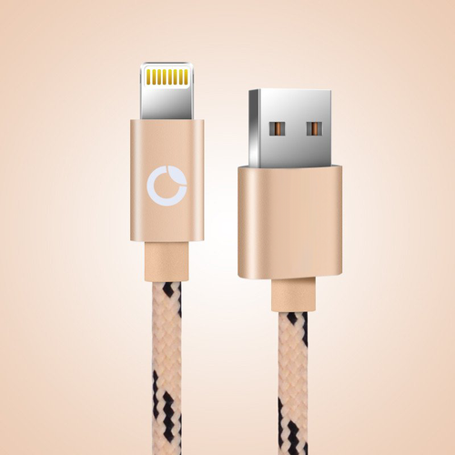 Apple Lighting Cable (Accelerated Charging and Data Transfer) - Gold