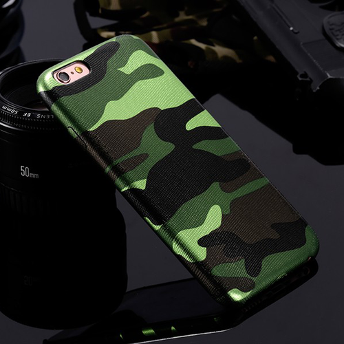 Camouflage iPhone Case (All Sizes Available) - Green