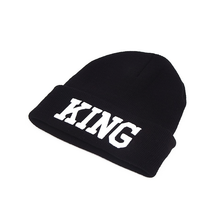 King Knitted Beanie Hat