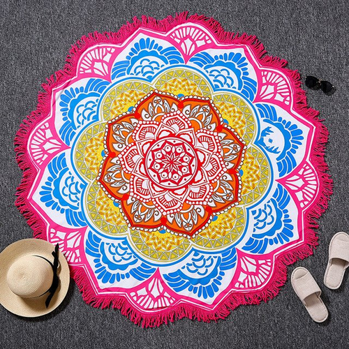 Pink Lotus Yoga Towel