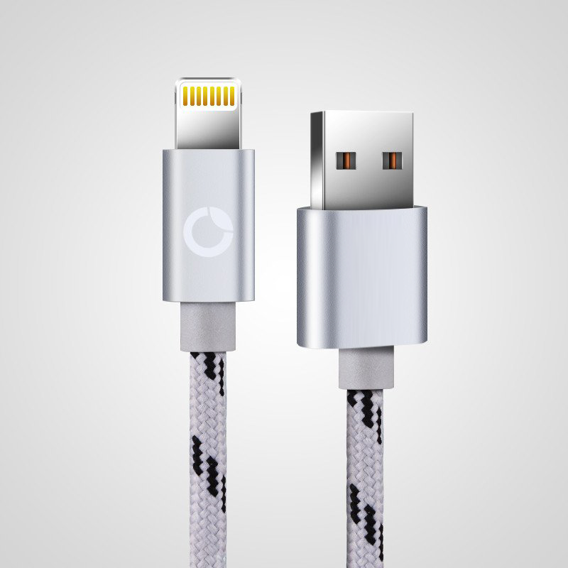 Apple Lighting Cable (Accelerated Charging and Data Transfer) - Silver