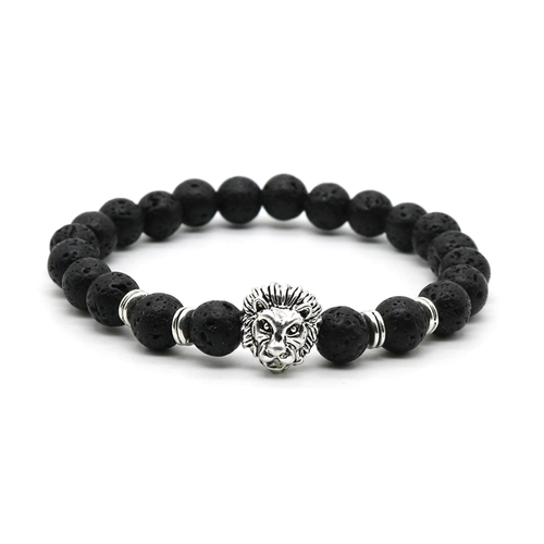 SPECIAL OFFER: Silver Lion Bracelet - Lava