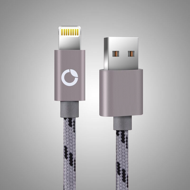 Apple Lighting Cable (Accelerated Charging and Data Transfer) - Space Grey