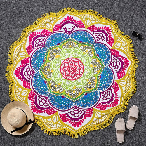 Yellow Lotus Yoga Towel