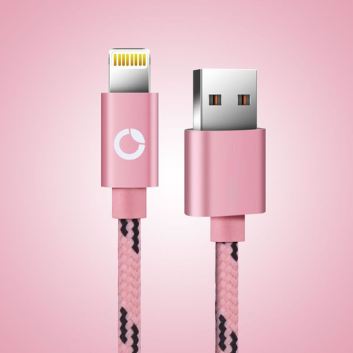 Apple Lighting Cable (Accelerated Charging and Data Transfer) - Pink