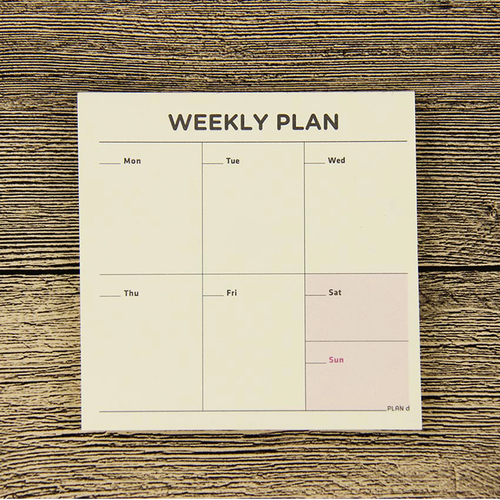 Weekly Planning Cards