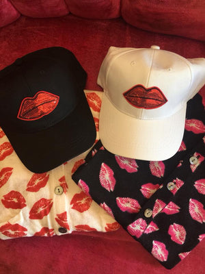 Lips Cap w/Sequins