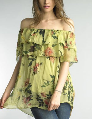 Capped Sleeve Floral
