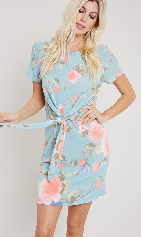 French Terry Floral Print