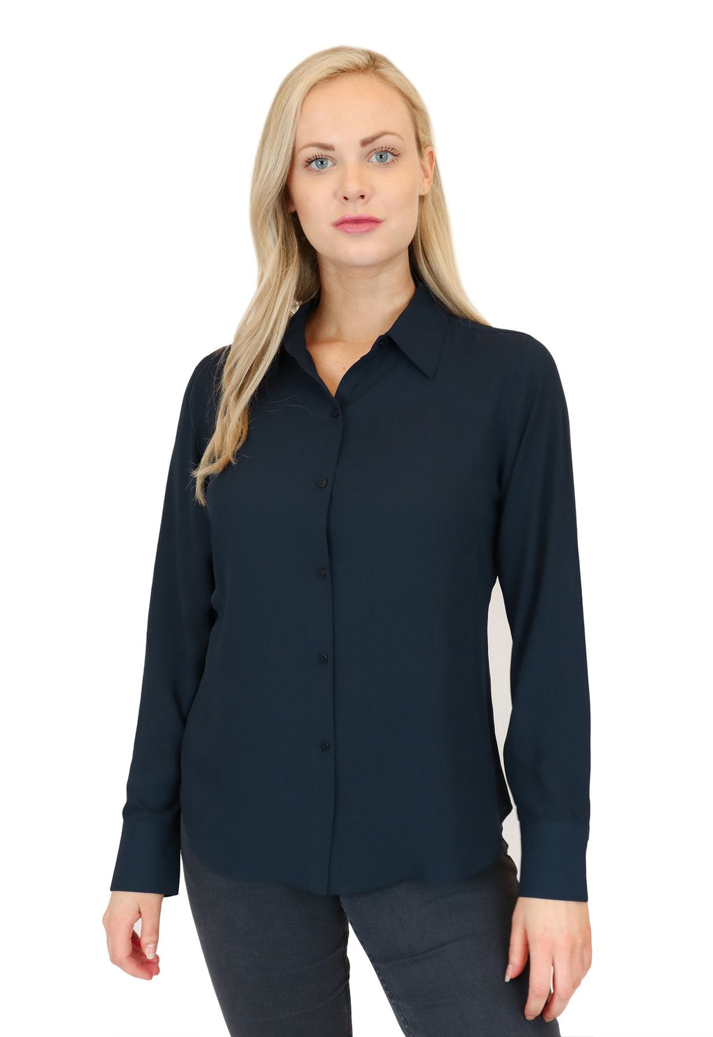 Collared Button Front Blouse