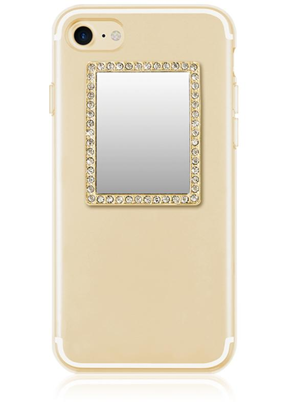 Rectangle Phone Mirror w/Crystals