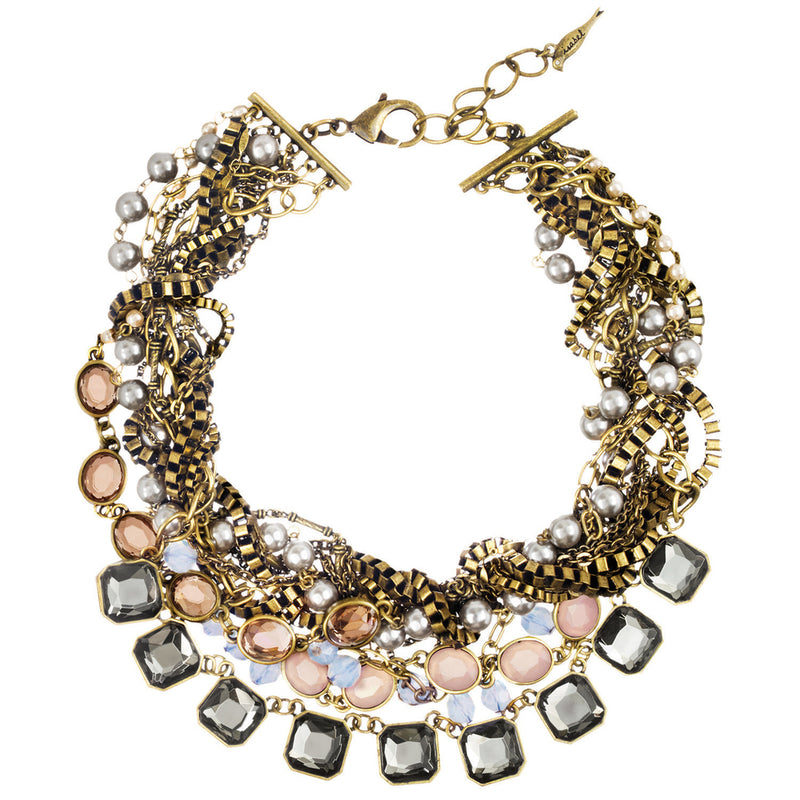 Multi-Strand Signature Torsade Necklace