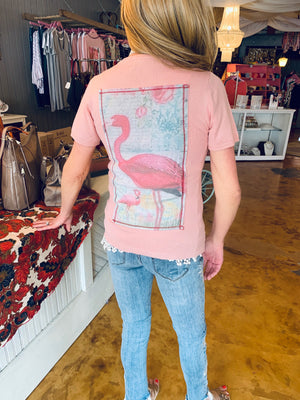 Pink Flamingo Top