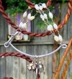 Wire Charm Bracelet With Freshwater Pearls