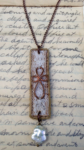 Leather and Lace Cross Pendant