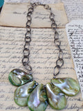 Green Abalone Shell Necklace