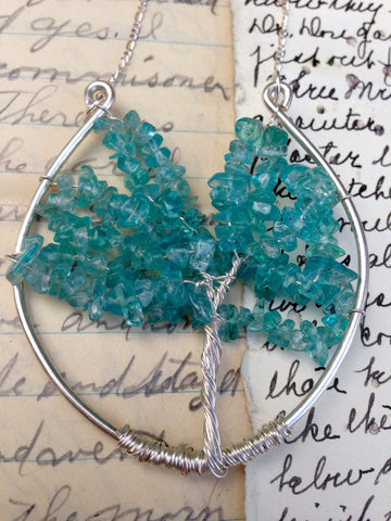 Apatite and Sterling Tree of Life