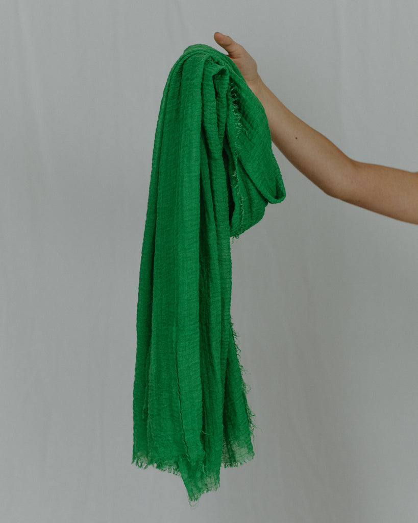 Frayed Cotton Scarf