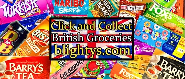 Click and Collect British groceries at Blighty's in Orangeville, ON!