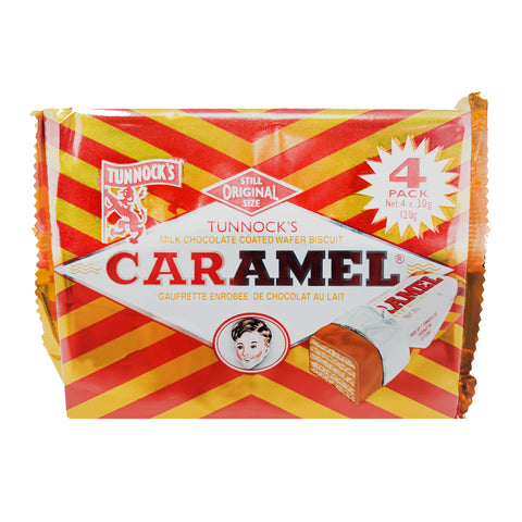 Tunnock's Caramel Wafer Biscuits 4 Pack (4 x 30g)