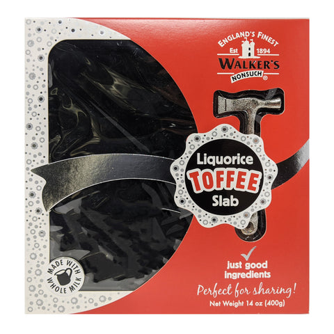 Walker's Nonsuch Liquorice Toffee Slab 400g